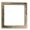 Metal 15.5mm Square Frame With 2 Hole Shiny Gold